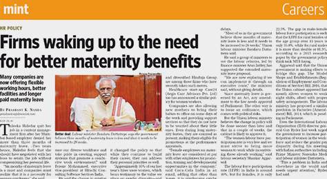 Firms waking up to the need for better maternity benefits